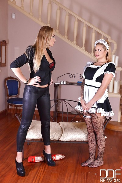 Lesbian hotties Maisie Rain and Kayla Green explore fetish side in BDSM activity