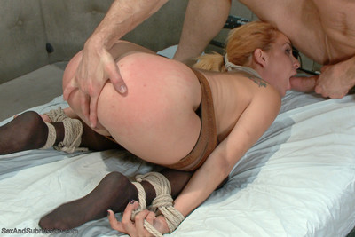 Nurse ashlee graham is roughed up tied and fucked in the ass by her patient.