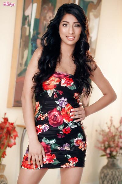 Cunning Latin cutie pornstar Megan looks totally enchanting in high-heels