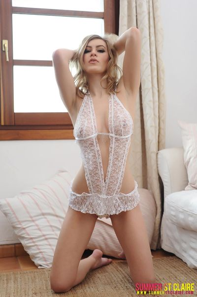 Sheer White Lace