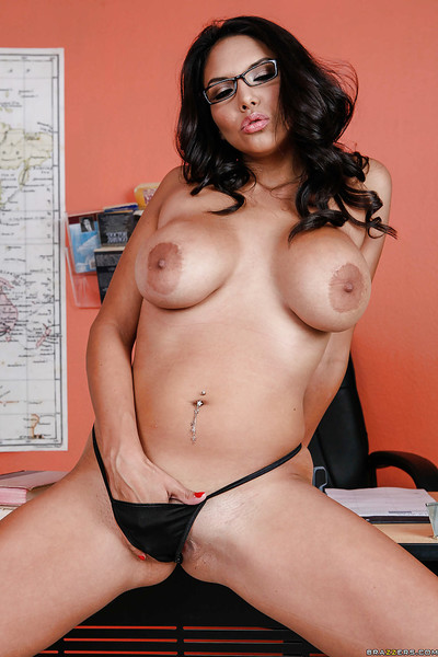 Unreal latin babe babe Missy Martinez taking off her suit and lingerie