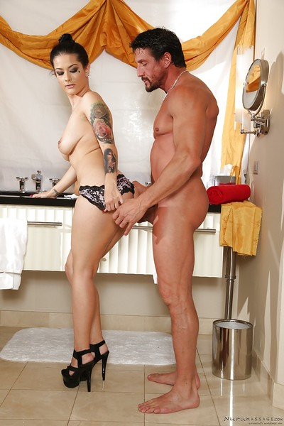 Busty Eastern babe Katrina Jade getting fucked by muscular stud