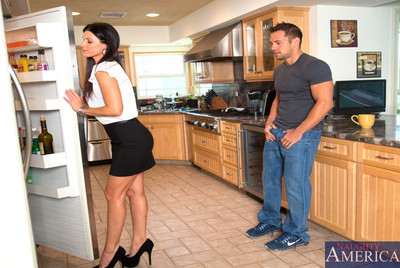 India Summer has hot sex with younger guy and admires getting drilled by his giant cock.