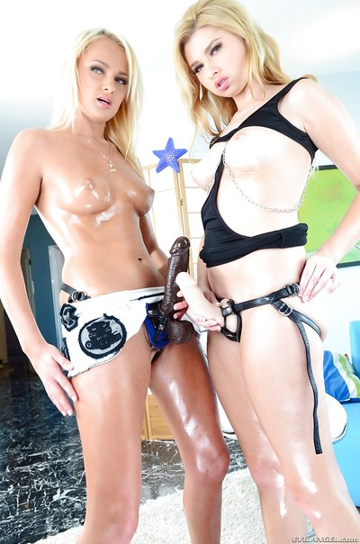 Ivana Sugar & Molly Bennett are up to have some strapon fun