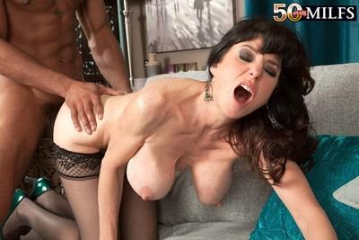 Hot wild milf karen kougar fucking her slit with hard dick