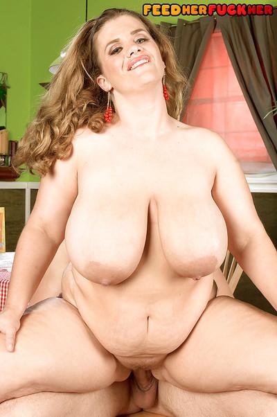 Chubby beauty in sheer bodystocking Hayley Jane gets bonked hardcore