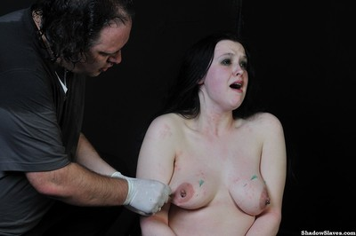 Emmas adolescent needle bdsm and electro torture of chubby english slave girl in this dude