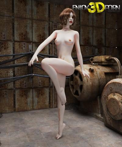 Concupiscent youthful babe likes to posing naked