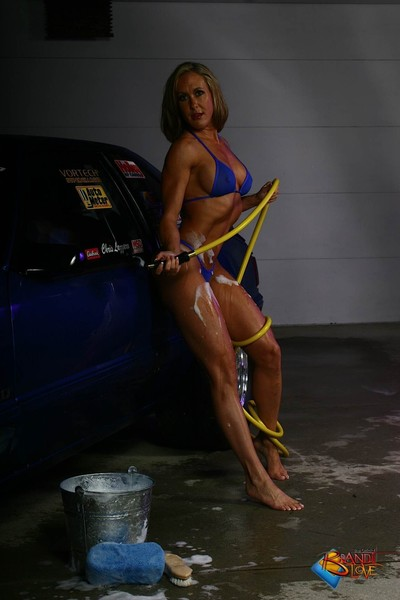 Brandi love washing mustang