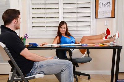 Office banging with an flawless milf teacher in high heels Destiny Dixon