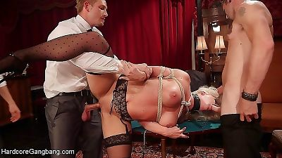 Holly heart busty blond is gangbanged with dp subsequently a hot poker - part 2848