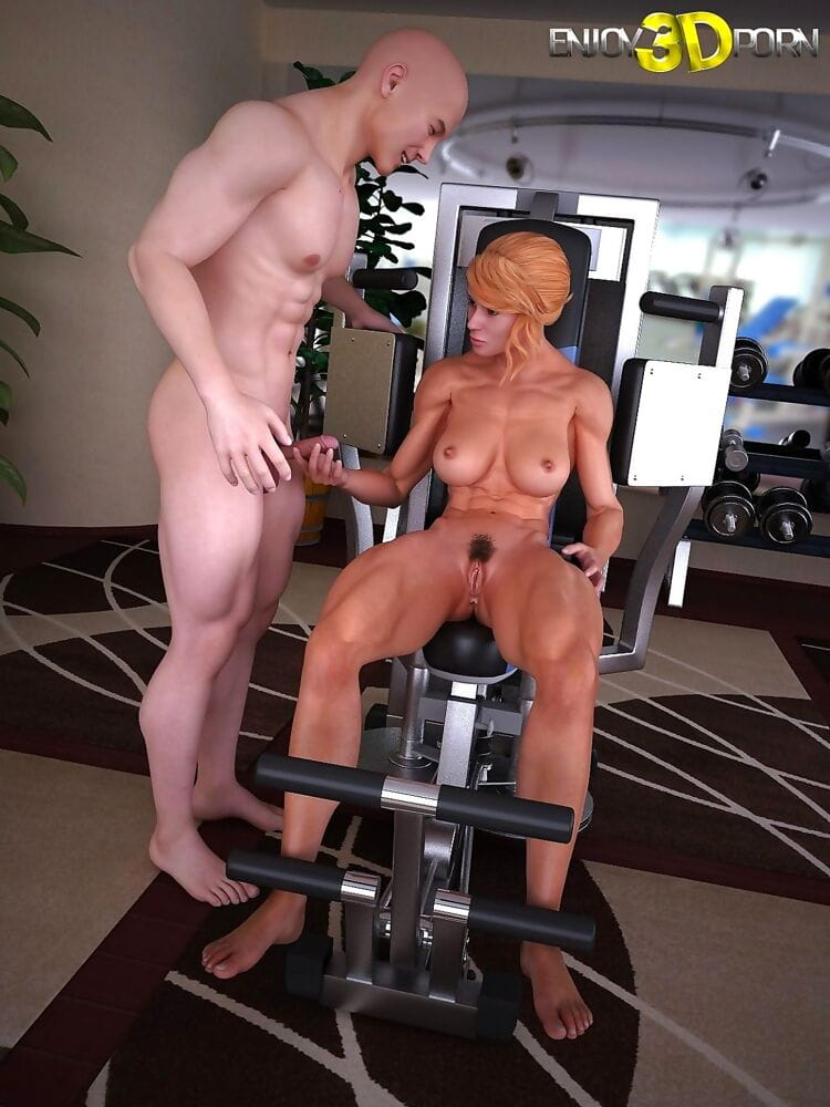 Concealed trainer fucks his hot workout life partner in the gym - part 11