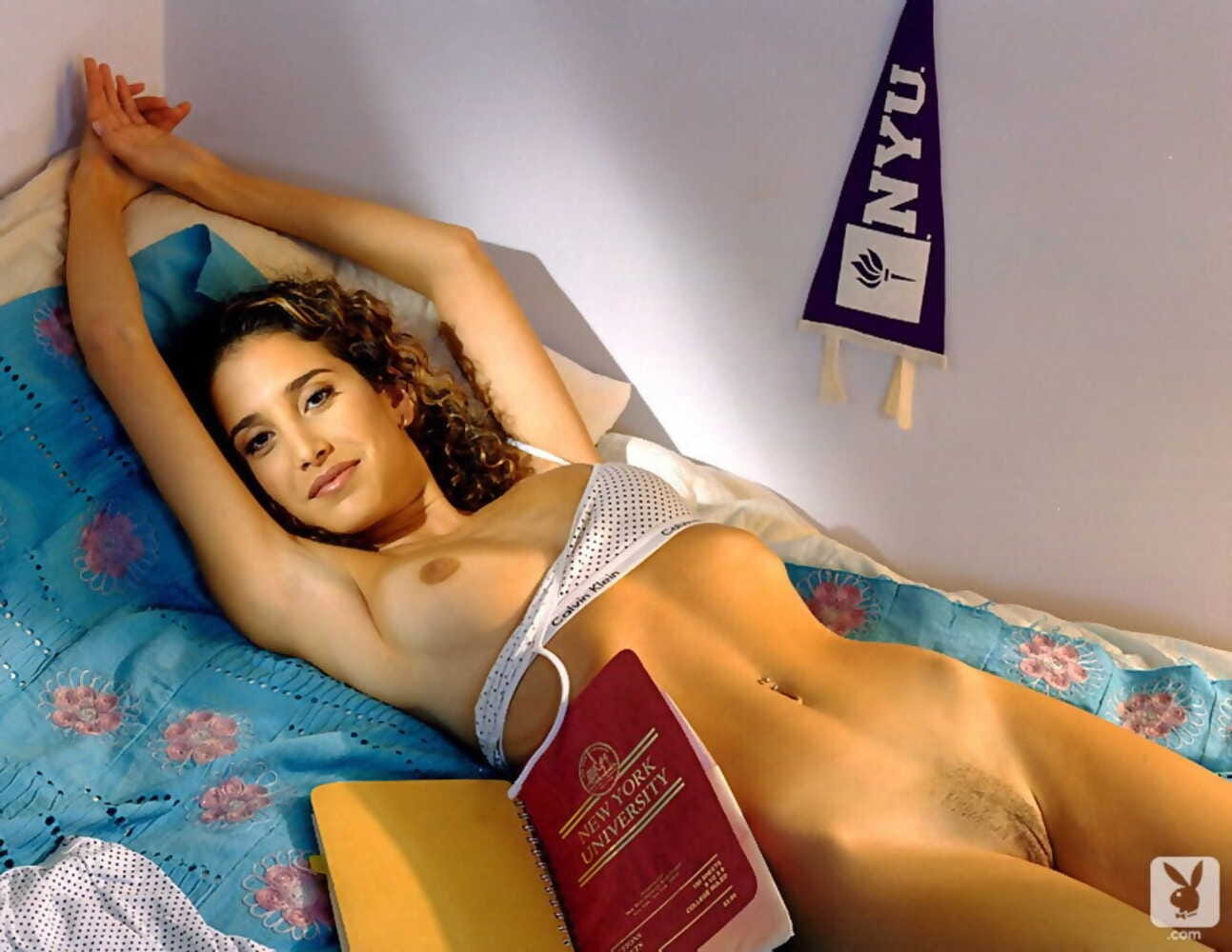 Moist & lusty college girls display their big tits & while studying for exams