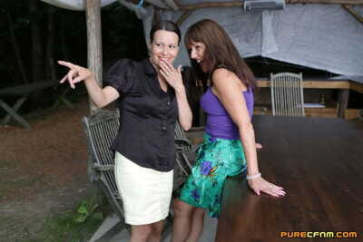 Naughty mamacitas Annabelle Larger quantity & Pandora Smith take your clothes off a boy before a double BJ