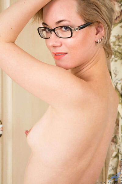 Tiny titted MILF in glasses & stockings spreading skinhead cum-hole and clammy ass wide - part 2