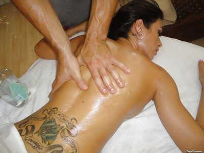 Curvy Capri Cavanni enjoys warm massage and charming sex in POV