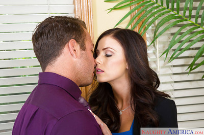 Office slut Whitney Westgate pleasant care of business with a blowjob