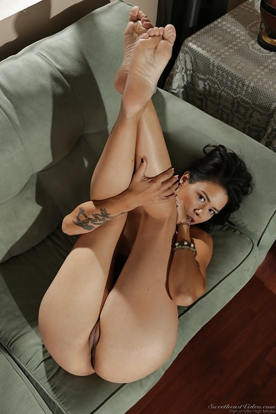 Dana Vespoli enjoys some without clothes time after studying hard all day
