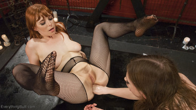 Two steaming hot red heads do not disappoint. anal dildo gag, fistings, gaping a