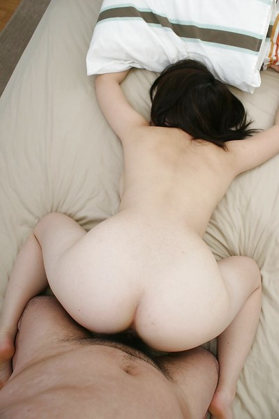 Oriental adolescent Momo Akiyama has some muff fingering and fucking getting pleasure