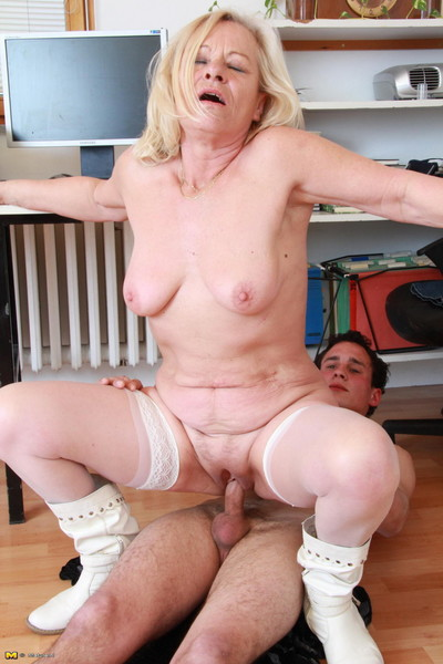 Naughty mature slut doing her horny boy toy