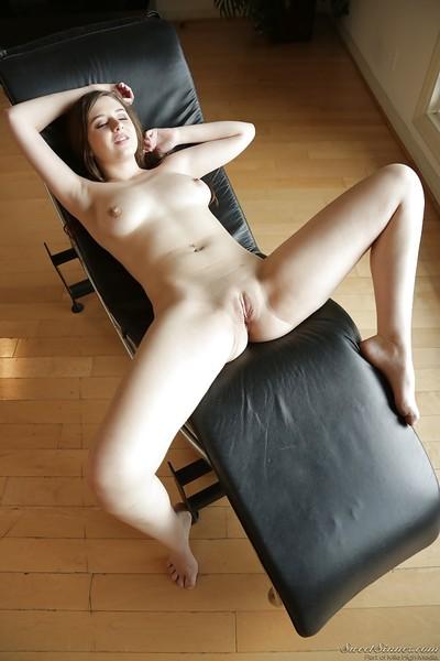 Pretty pornstar Elektra Rose sliding hand down white panties to play with dick