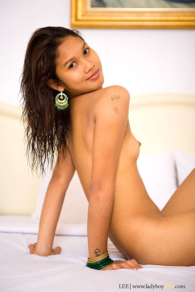 Thai shemale Lee is a hawt slut with small tits and willing for sex ass