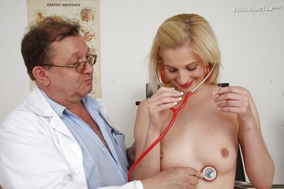 Fresh doll Mia Hilton attains inspected by nasty oldman in glasses