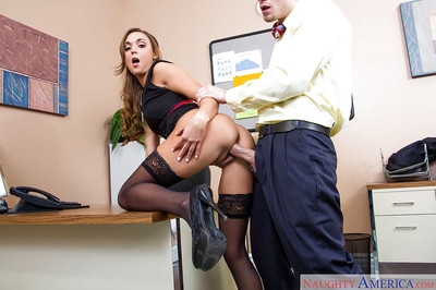 Doggy style percussion with a hardcore innocent office milf Marry Lynn