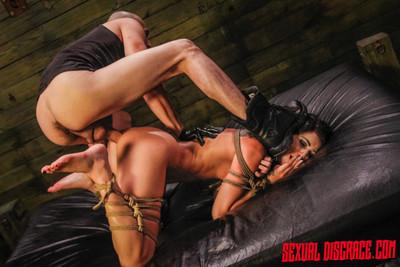 Bdsm, rope bondage, bj, rough anal copulation with esmi lee