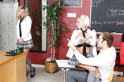 Wild schoolgirl with big tits Sienna Day learns new hardcore lesson