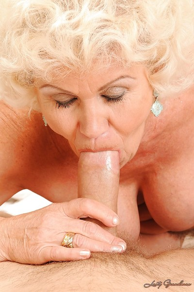 Lascivious granny with big woman passports gets her hairy twat drilled by a fat cock