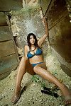 Harumi Nemoto Asian shows big boobs and sexy legs in bath suit