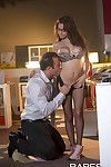 Nina north gets boned by a colleague during her ripped pantyhos