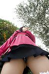 Chinese coed Hanano Nono slowly uncovering her amazing big bosoms