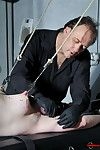 Amateur needle bdsm and private dungeon soreness rack drill