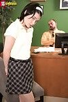 Schoolgirl first time fucked by her lascivious mentor