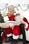Corporeal blonde Harley Q is screwing with some Christmas toys!