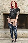Amber ivy fingering her enter gate by the fire place
