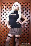 Tgirl in skirt