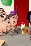 Hot smoking deed by nasty cartoons