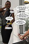 A black woman doing a hung guy in  comics