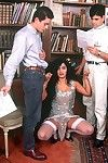 The singing class teacher group-bonked in all holes by 3 dudes