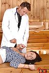 BDSM fetish action with Paige Turnah fixed firmly and fingered by mad doctor