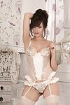 Kate Anne is sexy in her stockings and alluring lingerie. She elegantly shows off her all-natural body and alluring legs. Lurking in betwixt is her gorgeous  bawdy cleft to invite us in.