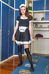 As a french maid, Milana S makes the skillful imagination come true. The outfit listlessly comes off in a sexy way, and she shows off her all-natural body. Herself breathtakingly beautiful with a slight figure.