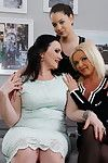 Three old and teen lesbian babes make out an accept