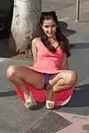 Amazing young amateur gal Vijaya Singh expanding her legs outdoors