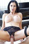 Titsy milf shows off her uterus in some crotchless underwear