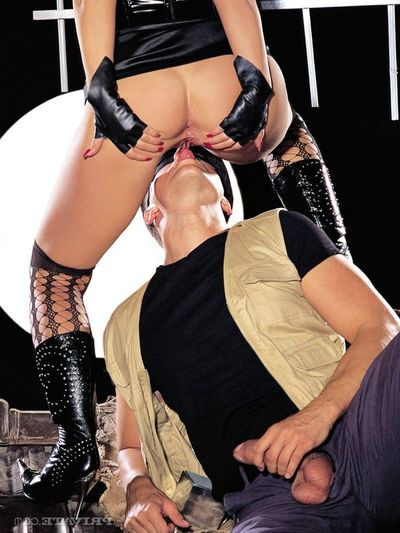Infatuation blonde Kitty Sixx gives a blowjob increased by does anal